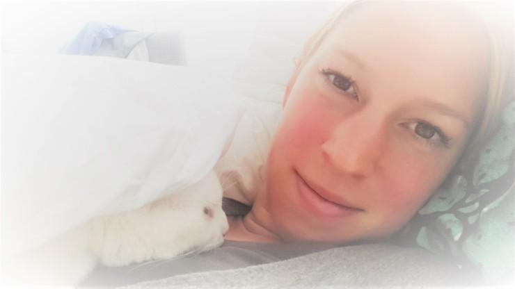 Met Pip in Bed